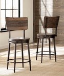 Hillsdale Furniture Jennings metal swivel counter height stool