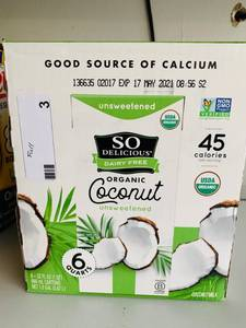 SO DELICIOUS DAIRY FRE ORGANIC COCONUT (FULL)