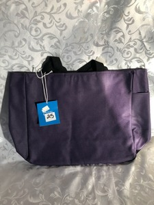 CANVAS TOTE PURPLE 14X12